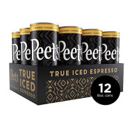 Peet'S True Iced Espresso Caramel Macchiato 8 Ounce Cans (12 Count) Single-Origin Colombian Espresso & Milk And Caramel Flavors 130 Calories