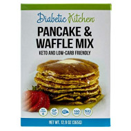 Diabetic Kitchen Pancake & Waffle Mix Is Keto-Friendly, Low-Carb, Gluten-Free, High-Fiber, No Artificial Sweeteners Or Sugar Alcohols, Non-Gmo And No Sugar Added (13 Servings) (Box)