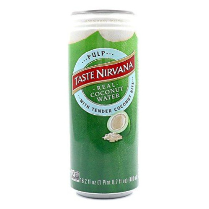 Taste Nirvana, Coconut Wtr Pulp Can, 16.2 Fo, (Pack Of 12)