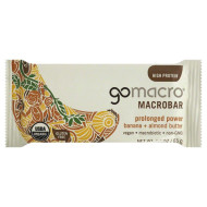Gomacro, Bar Banana & Almnd Btr, 2.3 Oz, (Pack Of 12)