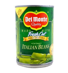 Del Monte, Green Bean Ital Cut, 14.5 Oz, (Pack Of 12)