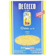 De Cecco, Pasta Orzo, 16 Oz, (Pack Of 20)