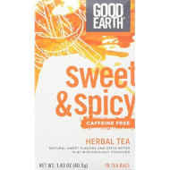 Good Earth, Tea Orgnl Swt&Spcy Decaf Blend, 18 Bg, (Pack Of 6)