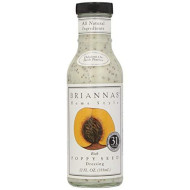 Briannas, Drssng Poppy Seed, 12 Oz, (Pack Of 6)
