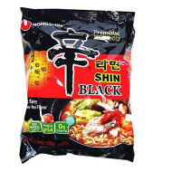 Nong Shim, Noodle Bag Shin Ramyun Bl, 4.58 Oz, (Pack Of 10)