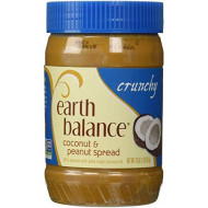 EARTH BALANCE, PEANUT Butter CRNCHY CCNUT, 16 OZ, (Pack of 12)