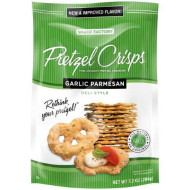 Snack Factory, Pretzel Crisp Garlic, 7.2 Oz, (Pack Of 12)