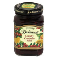 Dickinson, Relish Cranbry Country, 9.6 Oz, (Pack Of 6)