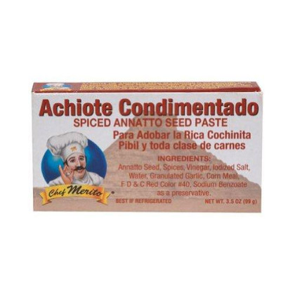 Chef Merito, Ssnng Achiote Paste, 3.5 Oz, (Pack Of 12)