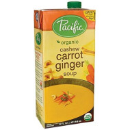 Pacific Foods, Soup Rte Cashew Carrot Gngr, 32 Oz, (Pack Of 12)