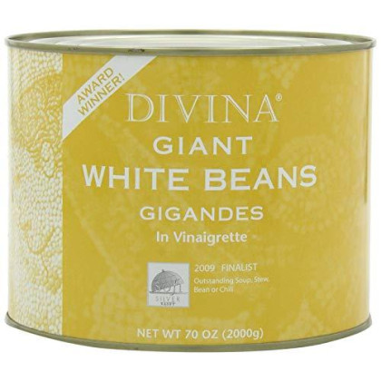 Divina, Bean Wht Giant, 4.4 Lb, (Pack Of 6)