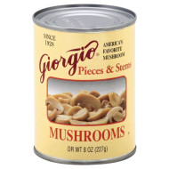 Giorgio, Mushroom Pieces N Stems, 8 Oz, (Pack Of 12)