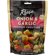 Reese, Crouton Onion & Garlic, 6 Oz, (Pack Of 12)