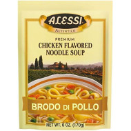 Alessi, Mix Soup Sclian Chkn Ndl, 6 Oz, (Pack Of 6)
