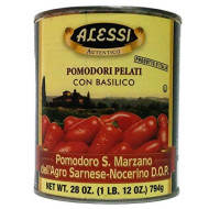 Alessi, Tomato Peeled San Marzano, 28 Oz, (Pack Of 12)