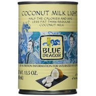 Blue Dragon, Coconut Milk Light, 13.5 Oz, (Pack Of 12)