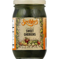 Sechlers, Pickle Candied Swt Gherkin, 16 Oz, (Pack Of 6)