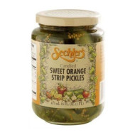 Sechlers, Pickle Candied Swt Orng Strip, 16 Oz, (Pack Of 6)