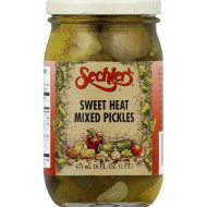 Sechlers, Pickle Swt Mixed Heat, 16 Oz, (Pack Of 6)