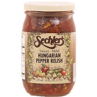 Sechlers, Relish Hungarian, 16 Oz, (Pack Of 6)