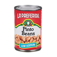La Preferida, Bean Pinto Low Sodium, 15 Oz, (Pack Of 12)