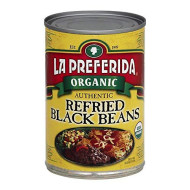 La Preferida, Bean Refried Black Org, 15 Oz, (Pack Of 12)