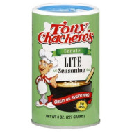 Tony Chacheres, Ssnng Lite Salt, 8 Oz, (Pack Of 6)
