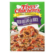 Tony Chacheres, Rice Dnr Red Bean & Rce, 7 Oz, (Pack Of 12)