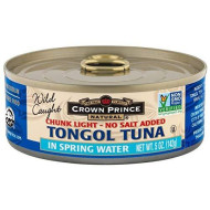 Crown Prince, Tuna Tongol Sprng Wtr Ns, 5 Oz, (Pack Of 12)