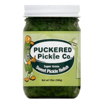 Puckered Pickle, Relish Pckl Green Sprswt, 12 Oz, (Pack Of 12)