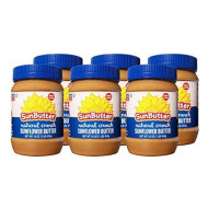 Sunbutter Natural, Nut Butter Sunflwr Crnchy, 16 Oz, (Pack Of 6)