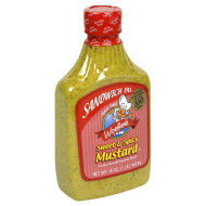Woeber, Mustard Sndwch Pal Swt Sp, 16 Oz, (Pack Of 6)