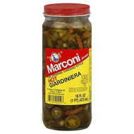 Marconi, Giardiniera Hot, 16 Oz, (Pack Of 12)