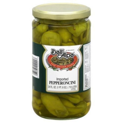Dell Alpe, Pepperoncini, 24 Oz, (Pack Of 12)