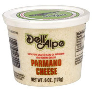 Dell Alpe, Cheese Parmano Grated, 6 Oz, (Pack Of 12)