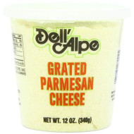 Dell Alpe, Parmesan Grated, 12 Oz, (Pack Of 6)