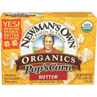 Newmans Own Organic, Popcorn Micro Butter Org, 9.9 Oz, (Pack Of 12)