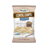 Simply 7, Chip Lentil Sea Salt, 4 Oz, (Pack Of 12)