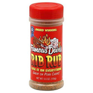 Famous Daves, Ssnng Rub Rib, 5.5 Oz, (Pack Of 12)