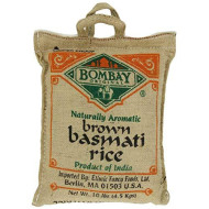 Bombay, Rice Basmati Brown, 10 Lb, (Pack Of 1)