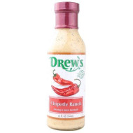 Drews All Natural, Drssng Chipotle Ranch, 12 Oz, (Pack Of 6)