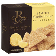 MOTHER RUCKERS SWEETS, COOKIE LEMON BRITLLE, 7.5 OZ, (Pack of 6)