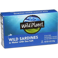 Wild Planet, Sardine Sprng Wtr, 4.375 Oz, (Pack Of 12)