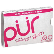 PUR GUM, GUM POMEGRANATE MINT, 9 PC, (Pack of 12)