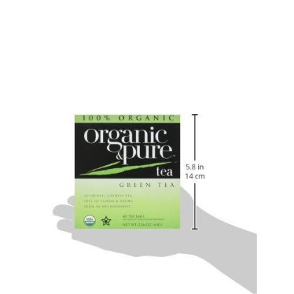 100 Organic & Pure, Tea Green Org, 40 Bg, (Pack Of 6)