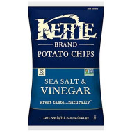 Kettle Foods, Chip Pto Seaslt & Vngr, 8.5 Oz, (Pack Of 12)