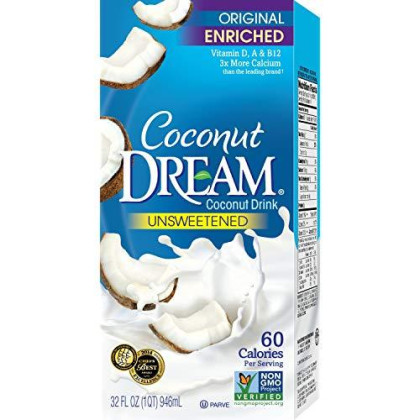 Dream, Drink Ccnut Dream Orgnl Unswt, 32 Fo, (Pack Of 12)