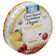 Torie & Howard, Candy Tin Lemon Raspberry, 2 Oz, (Pack Of 8)