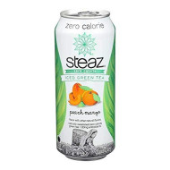 Steaz, Bev Tea Iced Zero Peach M, 16 Fo, (Pack Of 12)
