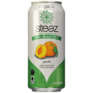 Steaz, Bev Tea Iced Grn Peach Or, 16 Fo, (Pack Of 12)